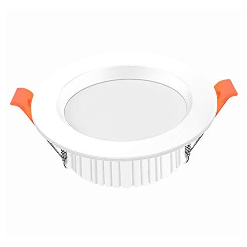 LED Empotrado de techo Focos Ultra Flat 220V 3W Impermeable IP44 Spot Lights para techo Techo White White 3000K Design Integrated Downlights 240lm Empotrado Baño Papel Paquete de 1 (blanco, redondo)