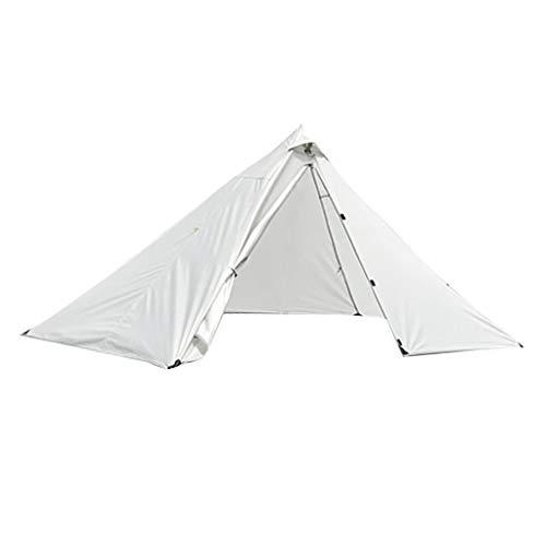MagiDeal Tente 1 à 2 Personnes avec Entrée Blindée et Installation Rapide et Facile, Résistante à l'eau pour Extérieur, Camping, Randonnée et Voyages - Gris Blanc, 270x160x125cm