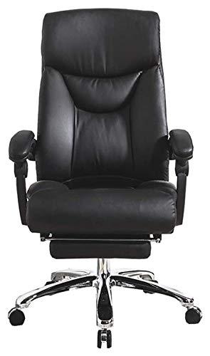 Silla de oficina con reposabrazos, taburetes de bar, silla de ordenador, cojín reclinable para aumentar la suavidad, la máxima comodidad, silla de oficina, aspecto de piel de rodillas