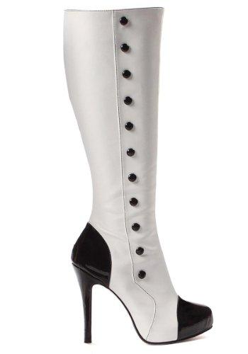 Leg Avenue 5022 - Buttons 4 Zoll Knie-Stiefel mit Knöpfen, Größe 9, schwarz