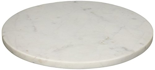 Creative Co-op DA6159 Marble Cheese/Cutting Board, Large, White
