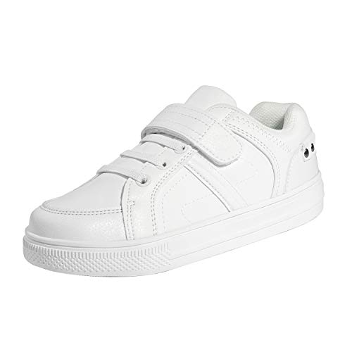 DREAM PAIRS Little Kid Boys' 151014-K White School Loafers Sneakers Shoes Size 11 M US Little Kid