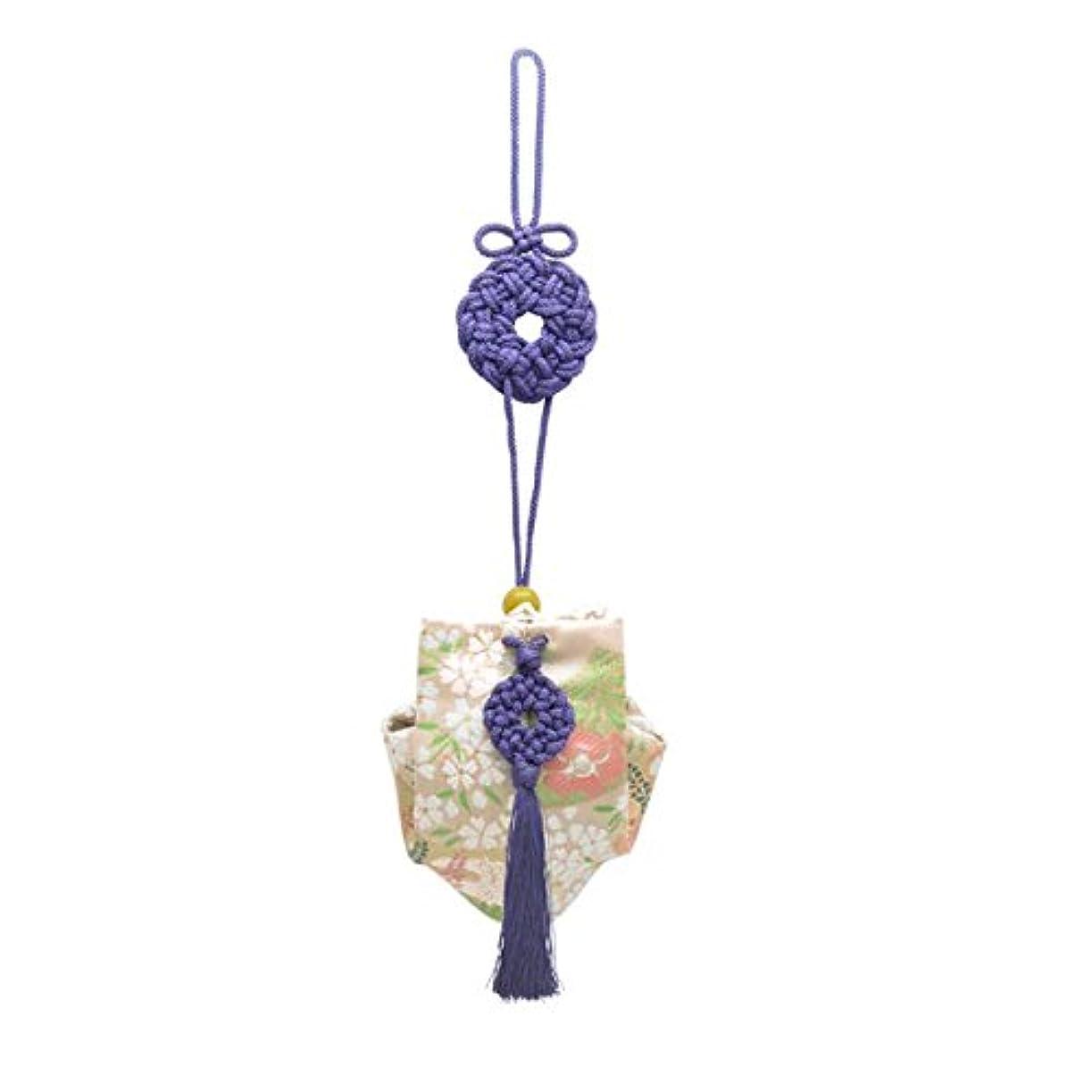 キャンベラこどもの日王子訶梨勒 上品 紙箱入 紫紐/桜に扇面