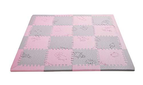 Nueva Mini Lubabymats Alfombra Puzzle Infantil Rosa/Gris