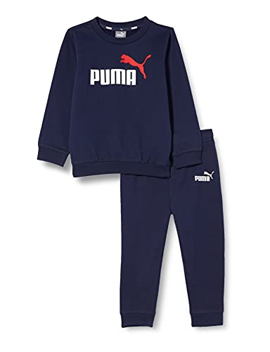 PUMA Kinder Minicats ESS Crew Jogger Trainingsanzug, Peacoat, 80