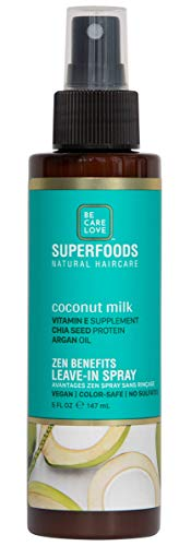 Be Care Love SuperFoods All-in-one Leave-in Miracle Mist, Coconut Milk, 5 Fl Oz 1