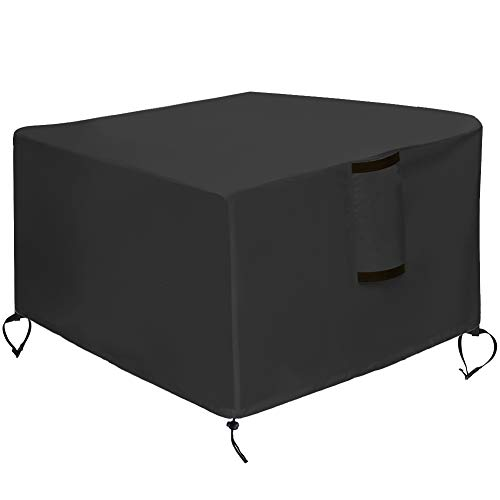 """Kasla Fire Pit Cover Square 32""""x32"""" - Waterproof Heavy Duty Patio Fire Pit Table Cover, Water Wind and UV Resistant"""