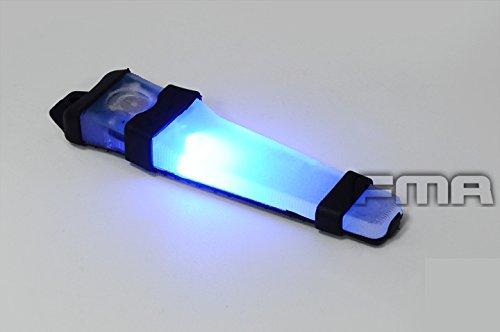 Helm Klettverschluss Safty VLA V-LITE E-LITE LED Strobe Light, blau, grün, rot)-Taschenlampe Grundlage für Airsoft, Schwarz-Jagd Outdoor Camping Blau
