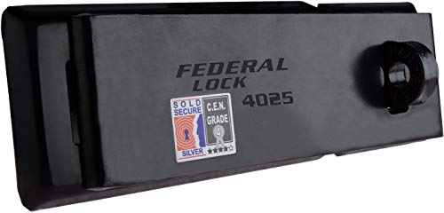 Federal HIGH SECURITY HASP & STAPLE, Weatherproof, Anti Cut, Corrosion Resistant, Heavy Duty