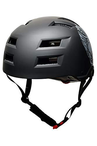 Skullcap® BMX Helm – Skaterhelm – Fahrradhelm – Totenkopf Helm – Herren Damen Jungs & Kinderhelm, schwarz, Gr. L (58 – 61 cm), Skull - 6
