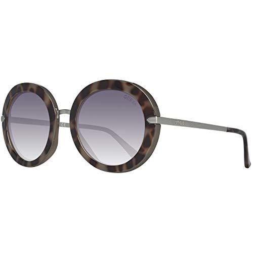 Guess GU7514 55B 52 Monturas de gafas, Marrón (Avana ColorataFumo Grad), 52.0 Unisex Adulto