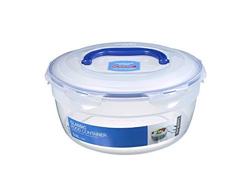LocknLock PP Classic Salat Bowl mit Griff, Ø 285 x 128 mm, 5 L, 100 % luft- und wasserdichte Vorratsdose, BPA-Frei, Cleveres Verschluss-System, Salatdose To Go, Salatschale mit Deckel