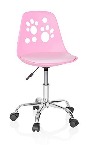 hjh OFFICE 742004 Kinderdrehstuhl Fancy I Kunstleder Pink mitwachsender Drehstuhl im peppigen Design