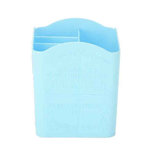 Organisateur cosmétique, porte-stylo, outils de manucure Conteneurs Boîte de rangement Nail Tool Boîte de rangement pour la décoration de bureau de maquillage(blue)