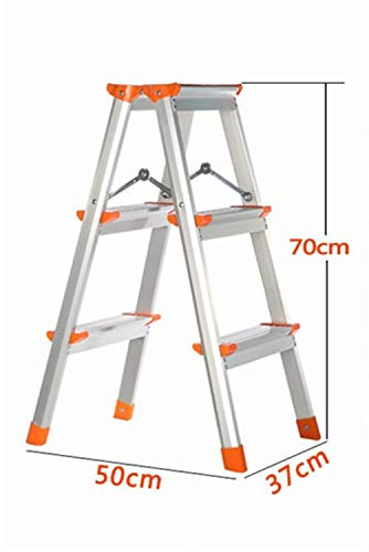 THWHZ-Z Hwenhui Aluminum Alloy Double-Sided Ladder, Two-Step Ladder Stool Three-Step Family Ladder Four-Step Outdoor Ladder Engineering Construction Stepladders Easy to Store (Size : 375070cm)