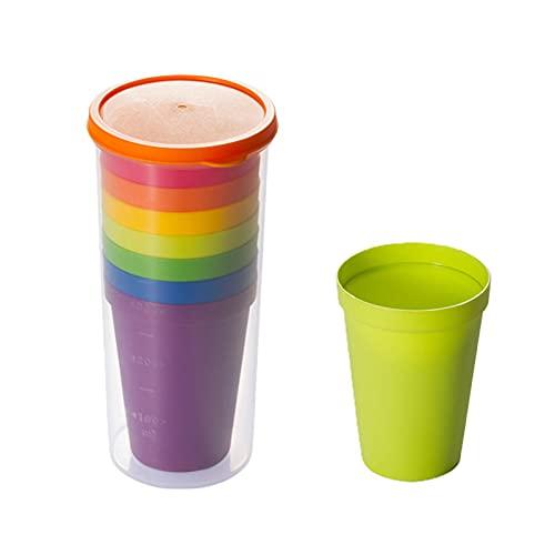 Tazas plásticas Set Multi Colores Plástico Reutilizables Portátil Arco Iris Copas Para Interior Al Aire Libre