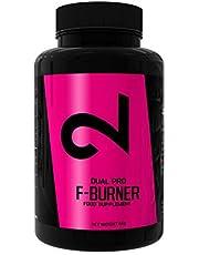 Dual Pro F-burner | Funciona Sin Deporte | Para Mujeres Y Hombres | 100 Cápsulas Veganas | Sin Aditivos & Estimulantes | Suplemento Alimenticio 100% Natural | Píldoras Dietéticas Para Perder Peso