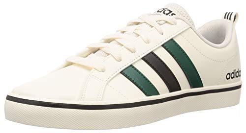 adidas VS Pace, Scarpe da Ginnastica Uomo, Chalk White/Core Black/Collegiate Green, 43 1/3 EU