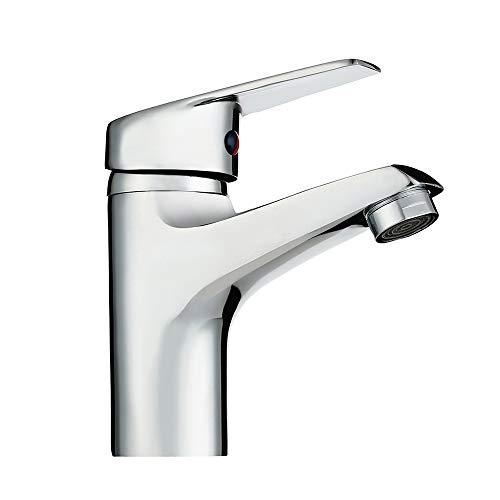 Mitigeur lavabo Monobloc Robinet Bassin Cascade lave main Eau chaude et froide réglable