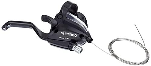 SHIMANO 5385 Rapid-Fire - Leva di Comando/Freno, 7 velocità con indicatore di Marcia per V-Brake, Destra, Colore: Nero
