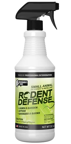 Exterminators Choice Rodent Defense Spray | 32 Ounce | Natural, Non-Toxic Mouse and Rat Repellent |...