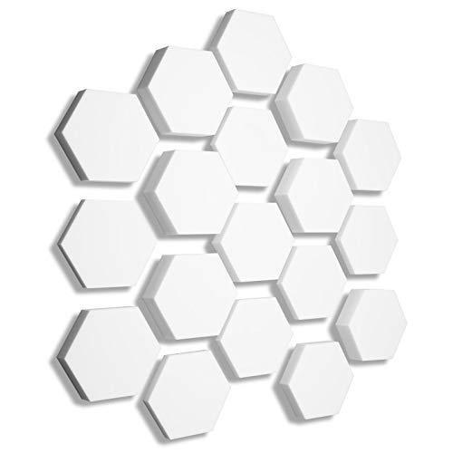 3D Absorber aus Basotect ® B WEISS - 18x Absorber Akustik Schallabsorption Breitbandabsorber Set #12