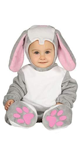 Guirca Niedliches Hasen-Kostüm für Babys Oster-Kostüm grau-rosa-Weiss 92 (1-2 Jahre)