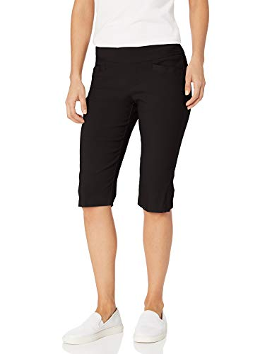 LEE Women's Misses Sculpting Pull On Skimmer Pant, Black, 16