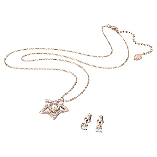 Swarovski Conjunto Stella, Blanco, Baño Tono Oro Rosa