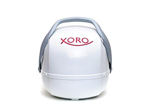 Xoro MPA 38 Pro Vollautomatische Mobile Satelliten-Antenne mit Auto Skew und GPS weiß