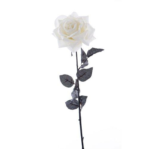 Velluto: Crema, singolo, con stelo, 70 cm, colore: rosa