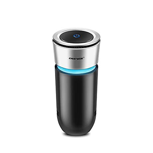 Onever auto purificatore d' aria, ionizzatore deodorante auto portatile con porte USB luci colorate fumo di sigaretta odore odore Eliminator - Remove Pet odore odore del fumo di sigaretta cibo per