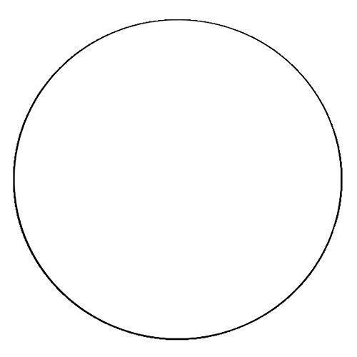 DecoHomeTextil Lacktischdecke Tischdecke Wachstuch Rund Oval Größe & Farbe wählbar Rund 120 cm Weiss Wachstischdecke Wachstuchtischdecke Gartentischdecke Lebensmittelecht