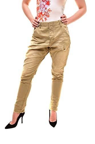 One Teaspoon 19169A - Pantaloni Slim da Donna, Colore: Verde Militario Verde 24W