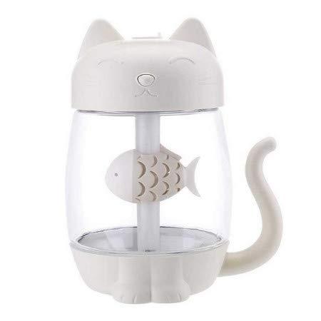 Tragbare 350 Ml Usb Cat Luftbefeuchter Ultraschall Nebelhersteller Mini Diffusor Lampe Luftbefeuchter Nebelmaschine Mit Mini Usb Fan Ligh A
