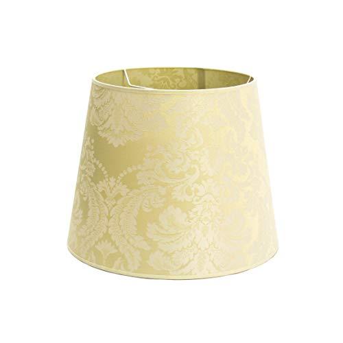 Eleganter Stoff Lampenschirm Weiß Ecru Ø38cm Barock-Muster für E27 Hängeleuchte Schirm WILLOW