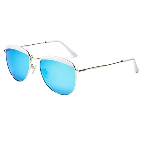 Mebeauty Polarized Light Sonnenbrille Damen Mode Brille Street Shot sportbrille Fashion Unisex Brille HM-63 (C2)