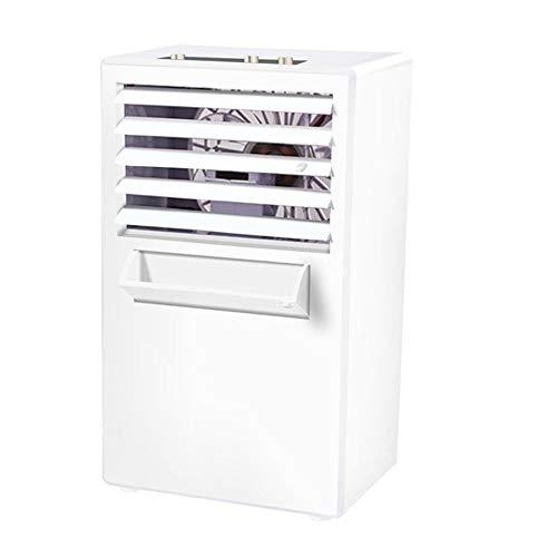 Yuxahiugfs Small Desk Fan, Acondicionador De Aire Portátil Sin Hojas Ventilador, Escritorio Pequeño Home Office Silencioso Humidificador, Personal Hidratante Ventilador Enfriador De Aire
