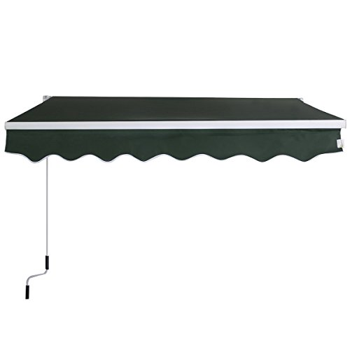 Goplus Manual Patio 8.2'×6.5' Retractable Deck Awning...