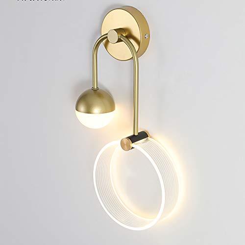 YALTOL Dormitorio LED lámpara de Noche Moderna Minimalista Personalidad Creativa Sala de Estar TV Pared de Fondo lámpara de Pared de Estilo nórdico lámpara de Tres Colores Cuerpo lámpara de Hierro