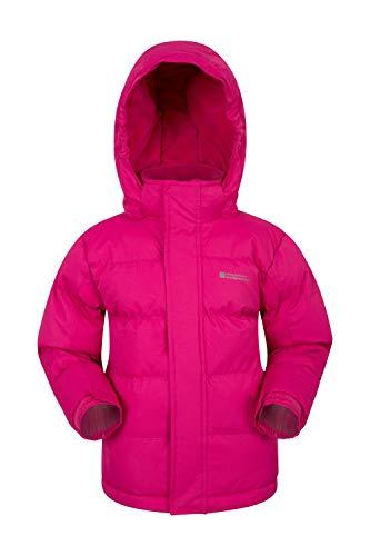 Mountain Warehouse Snow gefütterte Juniorjacke Wasserfeste Warme Winterjacke Kinder Mädchen Jungen Rosa 164 (13 Jahre)