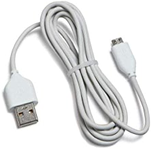 Amazon Kindle Replacement USB Cable, White (Works with Kindle Fire, Touch, Keyboard, DX, and Kindle) SHIPPING FROM USA (1, White) 2-Pack