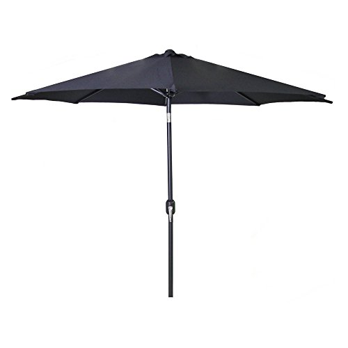 Jordan Manufacturing US904L-BLK Steel Market Umbrella, 9', Black