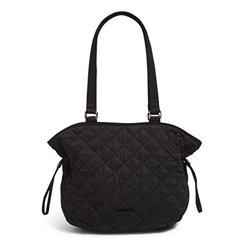 Vera Bradley Performance Twill Cinch Shoulder Bag Purse, Black