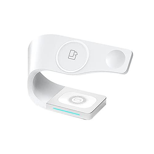 Cargador rápido magnético inalámbrico cuatro en uno de 15 W para teléfono móvil App-le, reloj, auriculares, soporte de sobremesa tres en uno, compatible con iPhone/iWatch/Air-pods, estación de carga