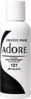 RINSE OUT SEMI-PERMANENT HAIR COLOUR JET BLACK 121  118ML by Adore
