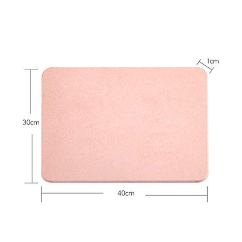 YYMMQQ Alfombra de baño,Bathroom Quick Dry Diatomite Floor Mat Anti-Slip Highly Absorbent Pad Anti-Mold Kitchen Carpet Toilet Rug Hallway Porch Doormat,Light Pink 30 40,China