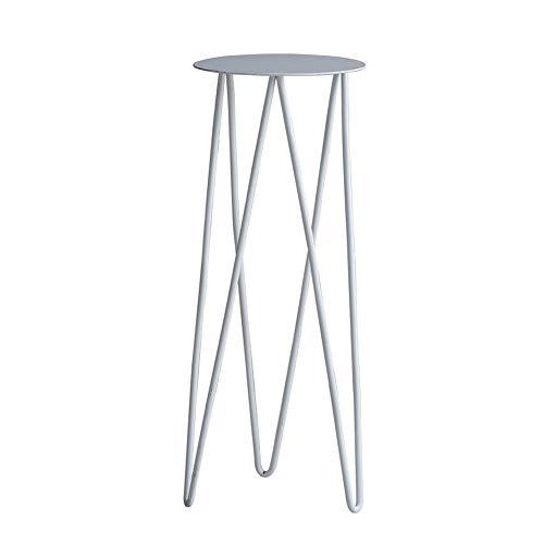 ZHEYANG Soporte para plantas de metal para decoración del hogar, 2 colores para mujer (color: blanco)