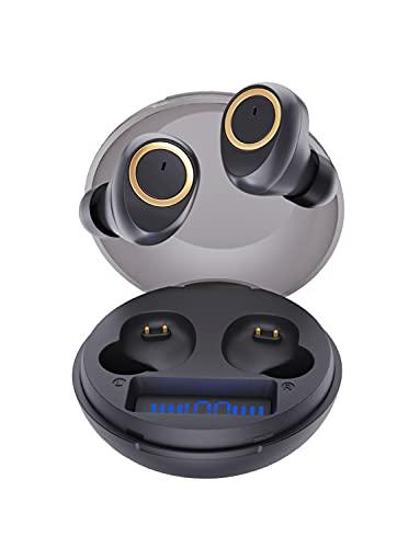 Auricolari Bluetooth, Bluedio D3 Cuffie Bluetooth Auricolari Wireless con Custodia di Ricarica Display Batteria, Controllo Touch, Auricolare Bluetooth 5.1 per Sport, Lavoro, Viaggio