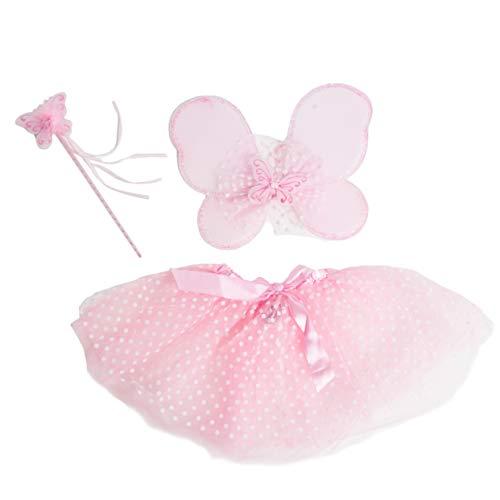 Bodysocks® Disfraz de Hada Rosa Niña (6-8 años)